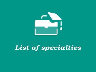 List of specialties